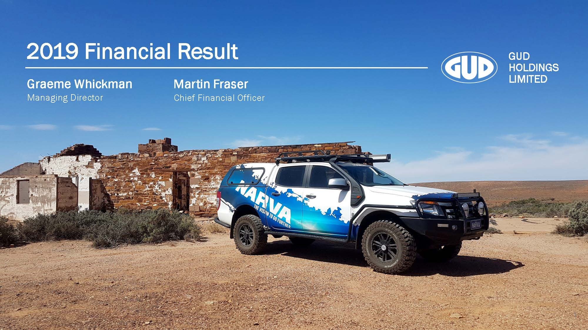 GUD Holdings Limited FY19 Full Year Results Presentation